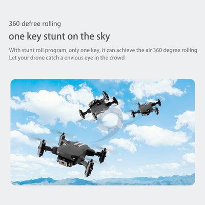 mini drone performing cool stunts and flips