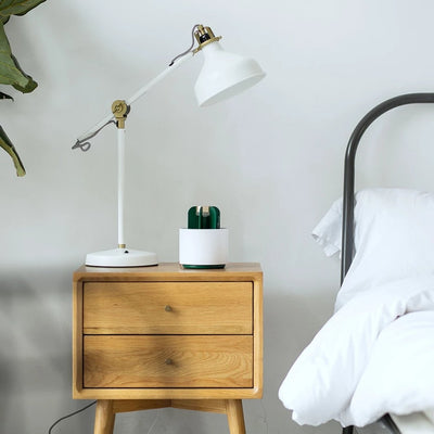 mosquito killer lamp on bedside cabinet