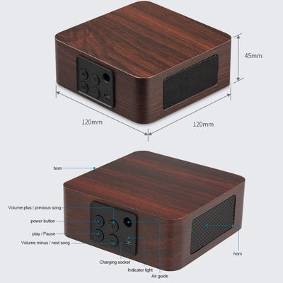size specifications of the wooden Bluetooth speaker
