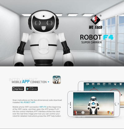 how to download the mobile app for the robot toy for kids