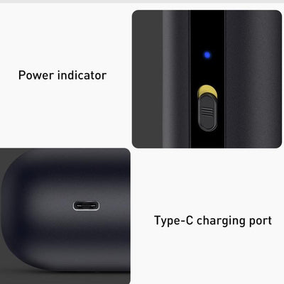 power indicator and type C charging port