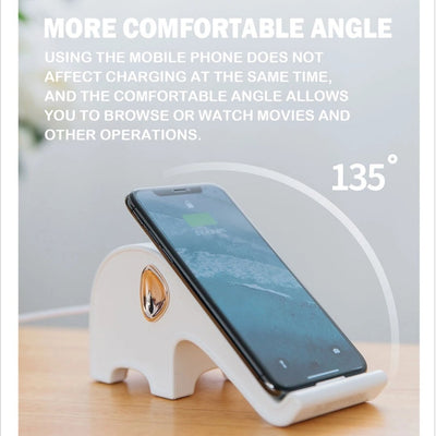 comfortable angle for wireless charger stand
