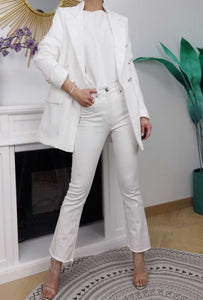 Oversized White Blazer