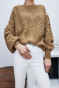 Pearl Beaded Knit Jumper