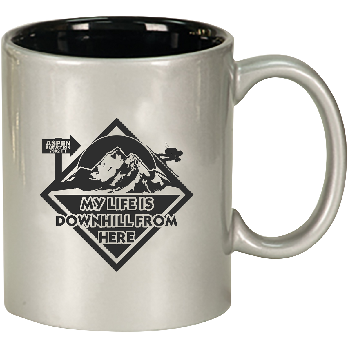 My Life is Downhill From Here - 11oz. Engraved Ceramic Mug