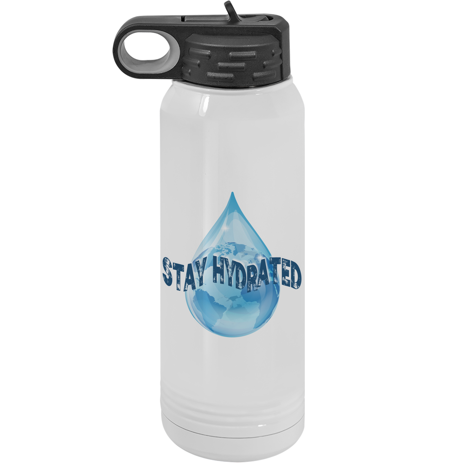 Stay Hydrated - 30oz. Water Bottle with Flip Lid & Straw