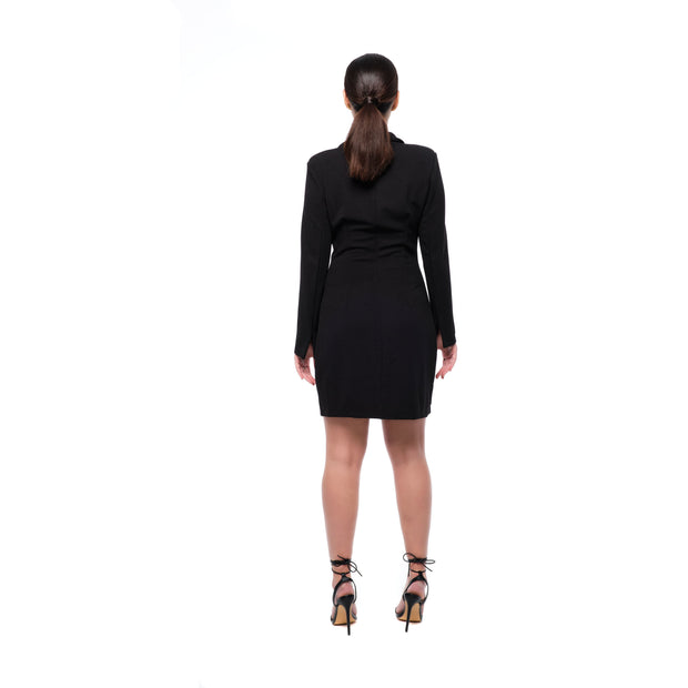 Valentina Black Blazer Dress