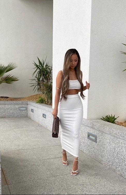 Santos Two Piece White Set