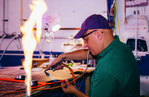 neon glass blowing