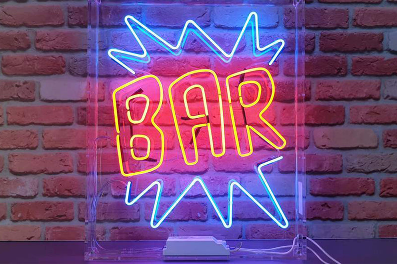 BAR (double outline) with zig zags (for hire)