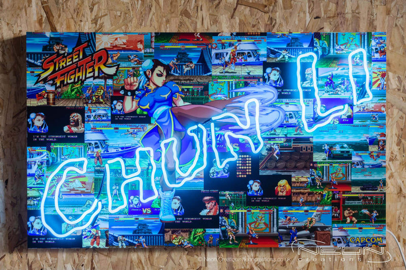Chun-Li – Blue Neon Sign (LIMITED EDITION OF 5 PIECES)