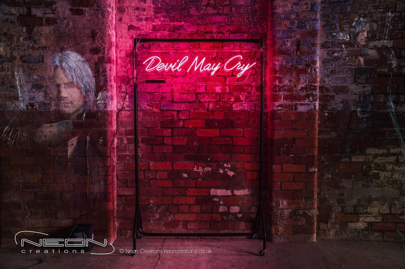 Devil May Cry – Pink Neon Sign