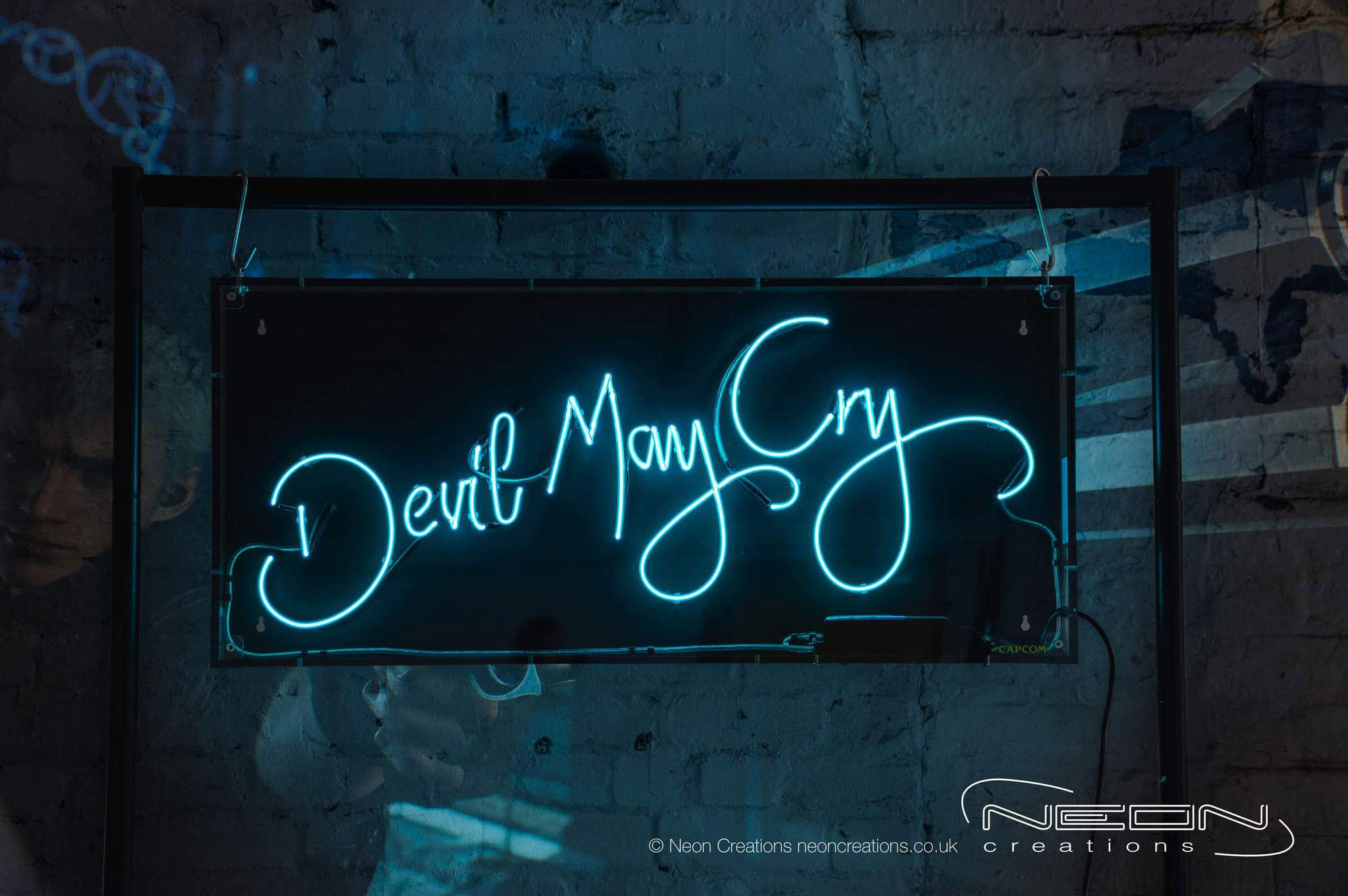 Devil May Cry – Blue Neon Sign