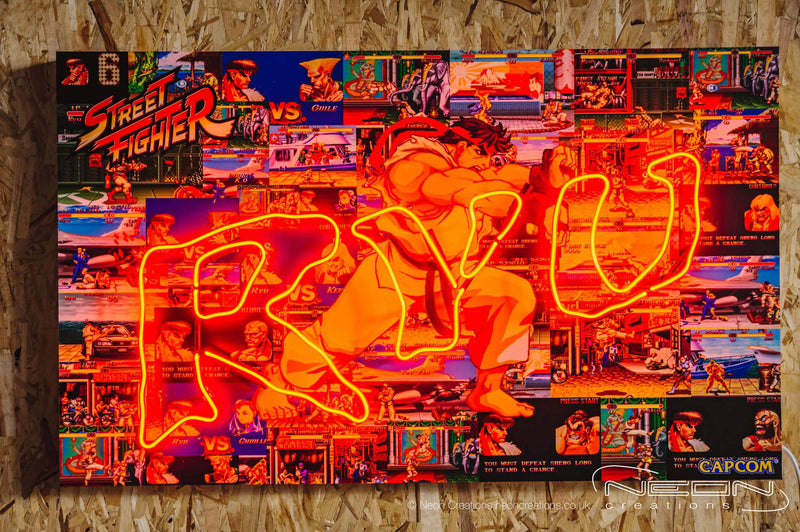 Ryu – Red Neon Sign (LIMITED EDITION OF 5 PIECES)