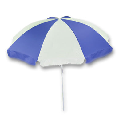 Jumbo Blue and White Beach Umbrella