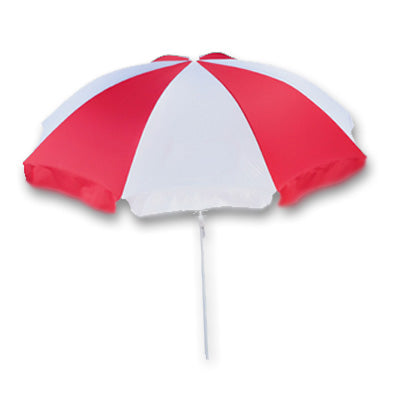 Jumbo Red and White Beach Umbrella