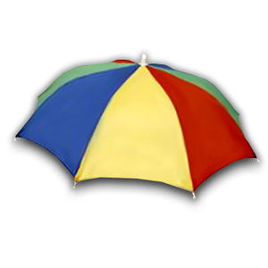 Umbrella Hat - Rainbow