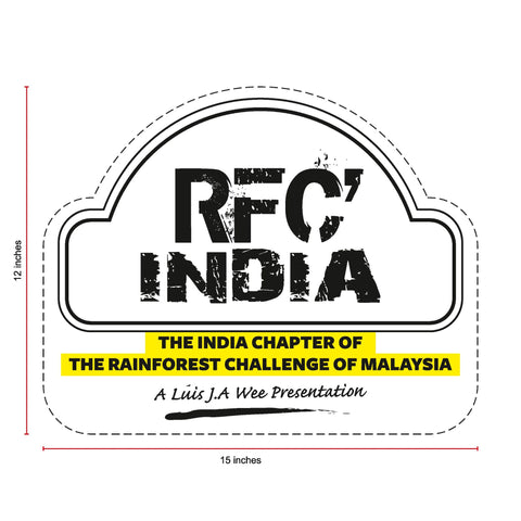 RFC India Die-Cut Jumbo Sticker