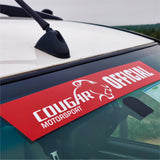 Windscreen Stickers Cougar Motorsport Official