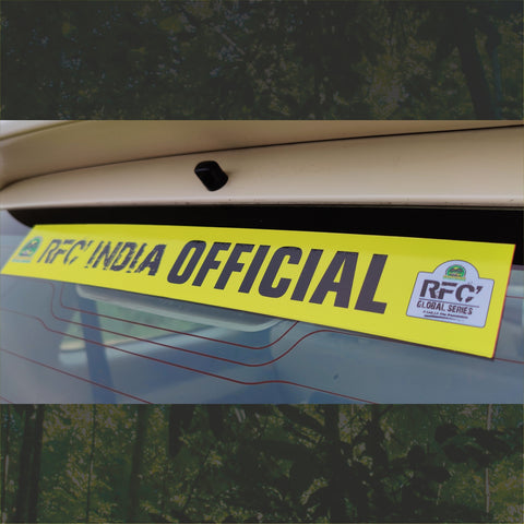 Windscreen Stickers RFC India Official