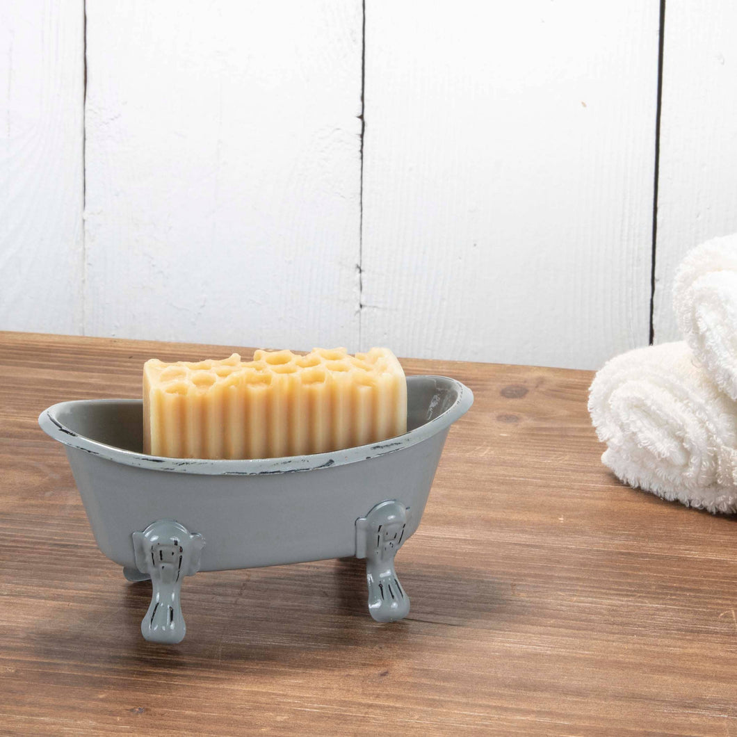 Gray Enamel Bathtub Soap Dish