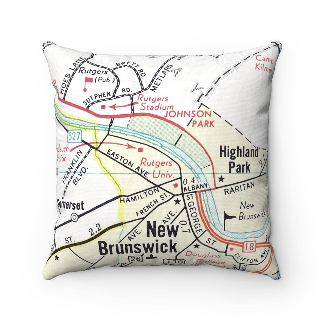 Rutgers University Map Pillow