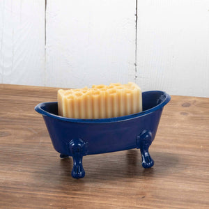 Blue Enamel Bathtub Soap Dish