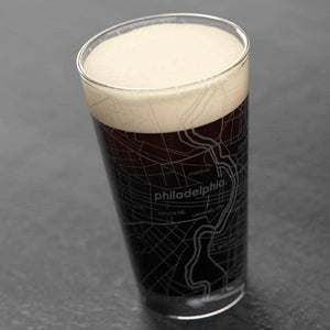 Philadelphia PA Map Pint Glass