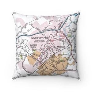 Penn State University Map Pillow