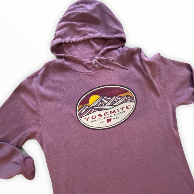 'Yosemite' National Park-Long Sleeve thermal Hoodie