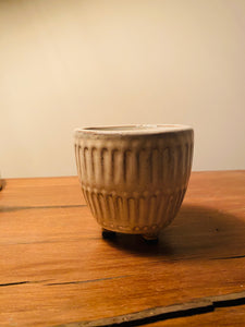 "3.15"" Stripe Ceramic Planter"