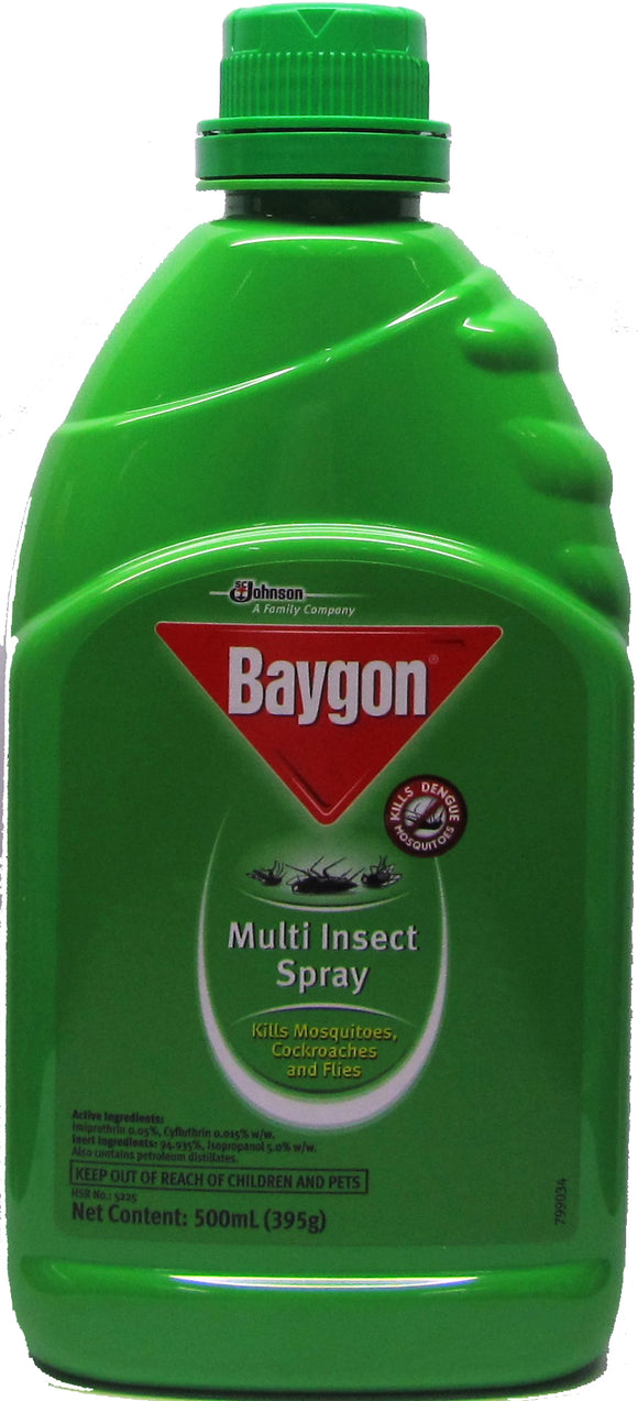 Baygon Multi-Insect Spray Kerosene Based 500ML
