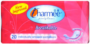CHARMEE PANTY LINERS UNSCENTED 20S