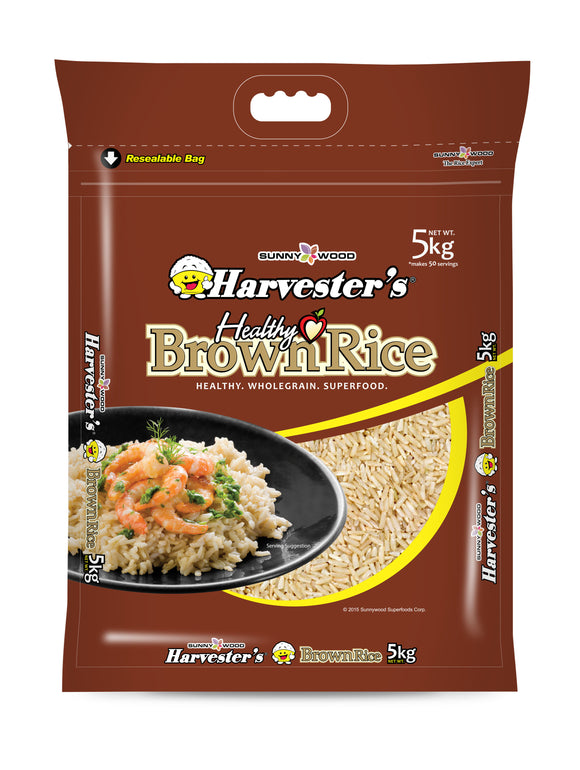 SUNNYWOOD SUPERFOODS CORPORATION BROWN RICE 5KG