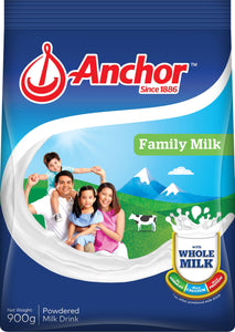 Anchor Family Milk Plain 900GX12