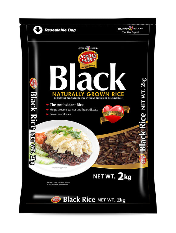SUNNYWOOD SUPERFOODS CORPORATION BLACK RICE 2KG