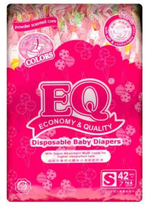 EQ COLORS BABY DIAPERS BIG PACK SMALL 42S