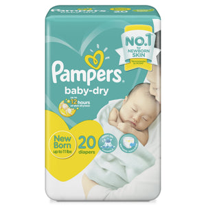 PAMPERS BABYDRY NB 20S