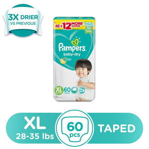 PAMPERS BABYDRY XL 54 6