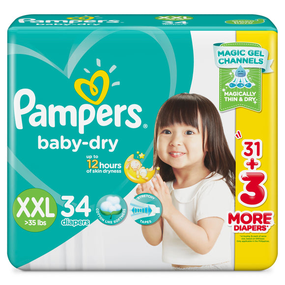 PAMPERS BABYDRY XXL PLUS 34S