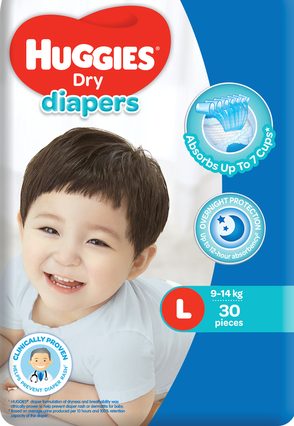 HUGGIES DRY ECO LAR 30S