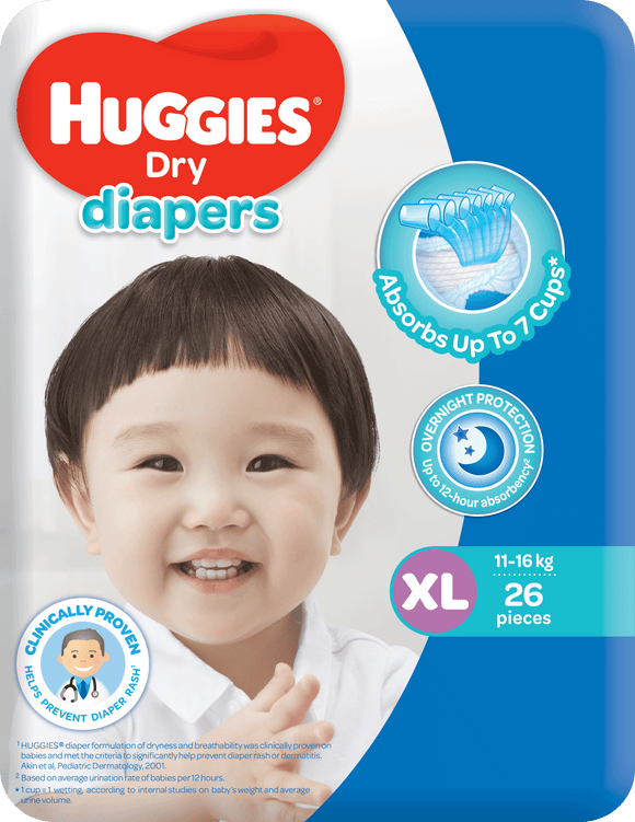 HUGGIES DRY ECO XL 26S