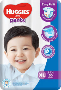 HUGGIES DRY PANTS SUPER JUMBO XL 60S