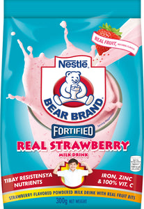 Bear Brand Fortified Powdered Strawberry Milk Drink With Iron 300G