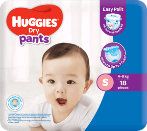 HUGGIES DRY PANTS REGULAR SMALL 18S