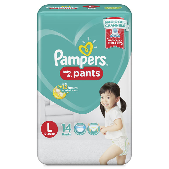 PAMPERS BABYDRY PANTS LAR 14S