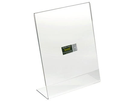 Sonoma Acrylic Menu Stand Angled Clear A4