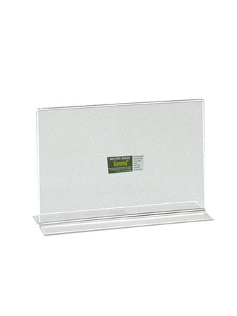Sonoma Acrylic Menu Stand Horizontal Back to Back Clear 5 x 3.5