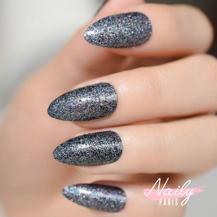 Coffret Stiletto - Gris pailleté