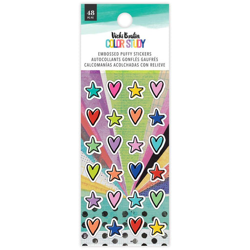 Vicki Boutin Color Study Embossed Puffy Stickers